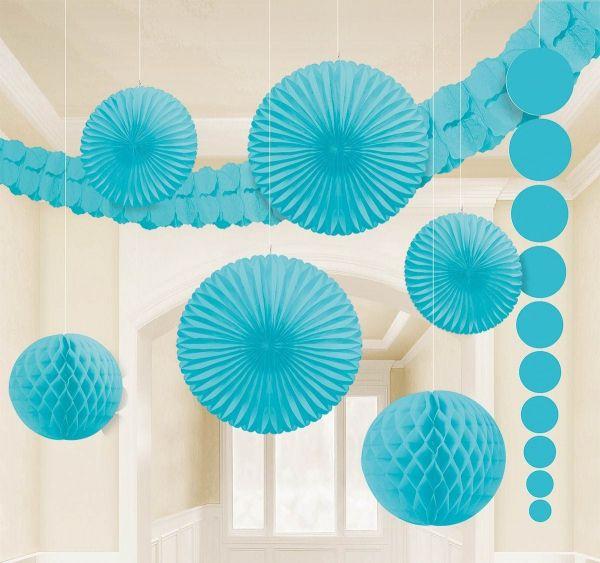 Karibik Blau - Dekorations-Set 9 tlg.