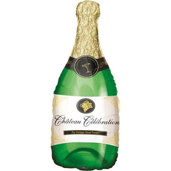 Folienballon Champagner Flasche 35x91cm