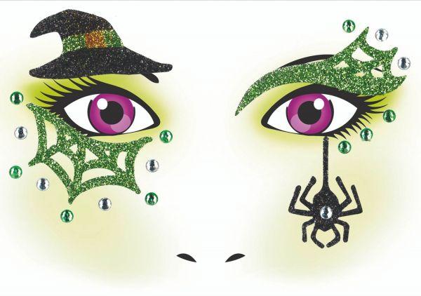 Face Art Sticker - Hexe