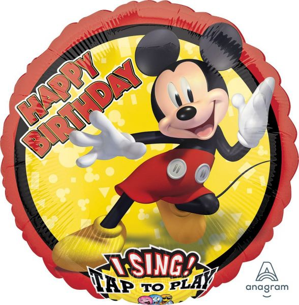 Musikballon Happy Birthday singende Micky Maus 71cm