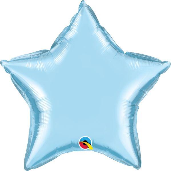 Folienballon Stern Pearl Pastell Blau 45cm