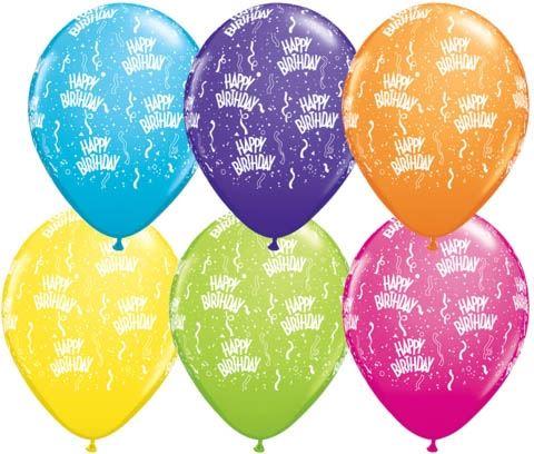 Qualatex Ballon Happy Birthday verschiedene Farben 30cm