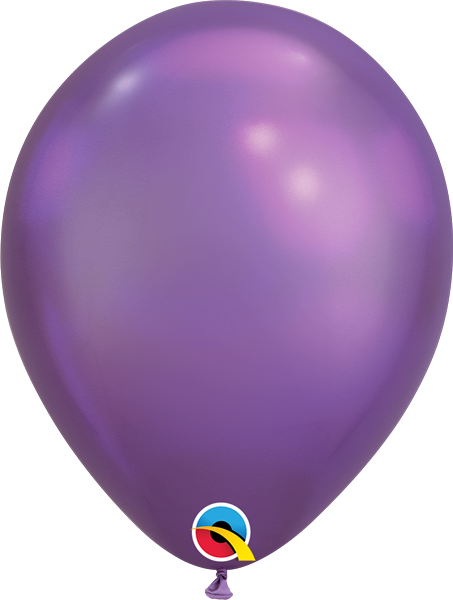 Qualatex Latexballon Chrome Purple Ø 30cm