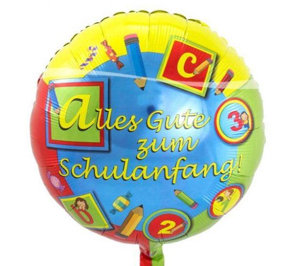 Folienballon Alles Gute zum Schulanfang 43cm