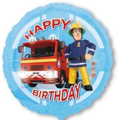 Folienballon Happy Birthday Feuerwehrmann Sam 45cm