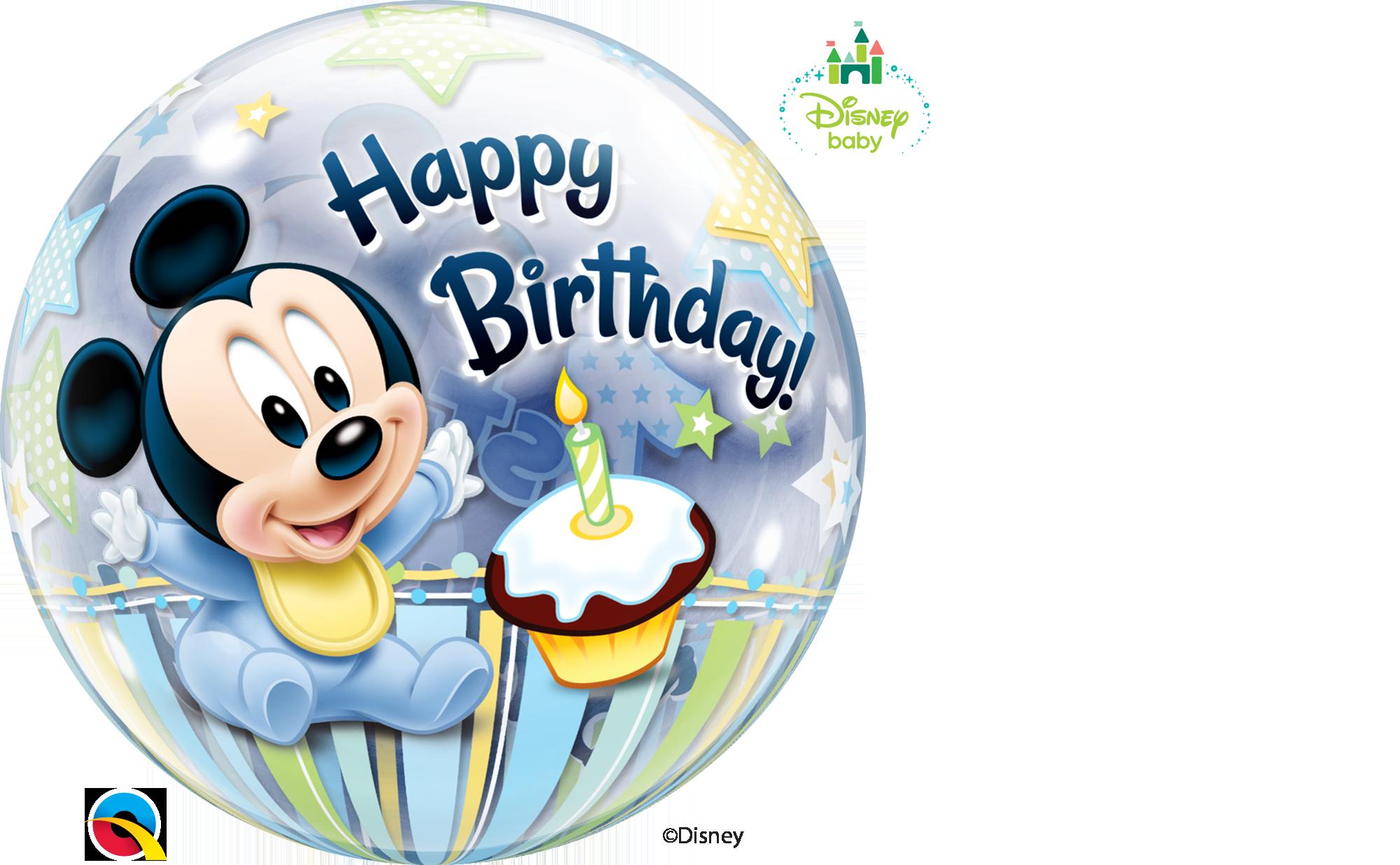 Bubble Ballon Mickey Mouse Zum 1 Geburtstag 56cm Bubble Ballons