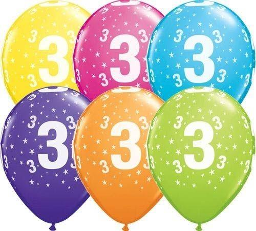 qualatex ballon sterne 3 geburtstag verschiedene farben 30cm geburtstag bedruckte ballons. Black Bedroom Furniture Sets. Home Design Ideas