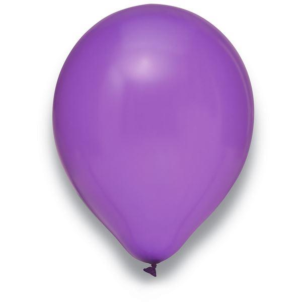 Latexballon Metallic Lila 100 Stück Ø 30cm
