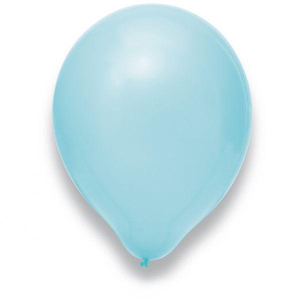 Latexballon Hellblau 100 Stück Ø 30cm