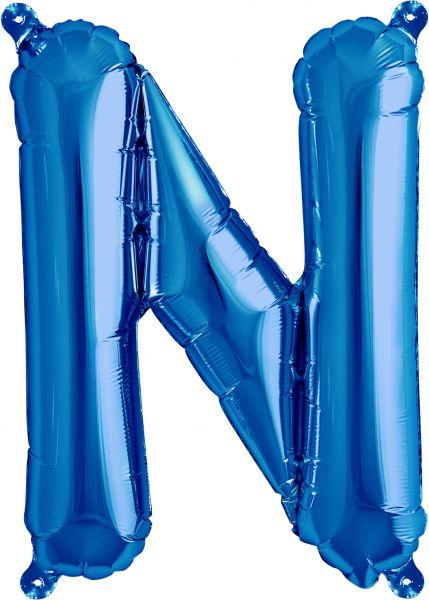 Luftballon Buchstabe N Blau 40cm