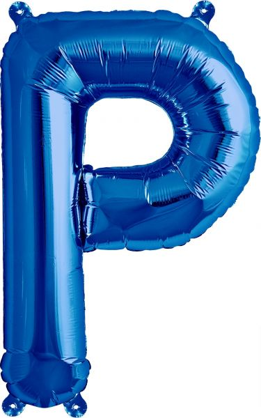Luftballon Buchstabe P Blau 40cm