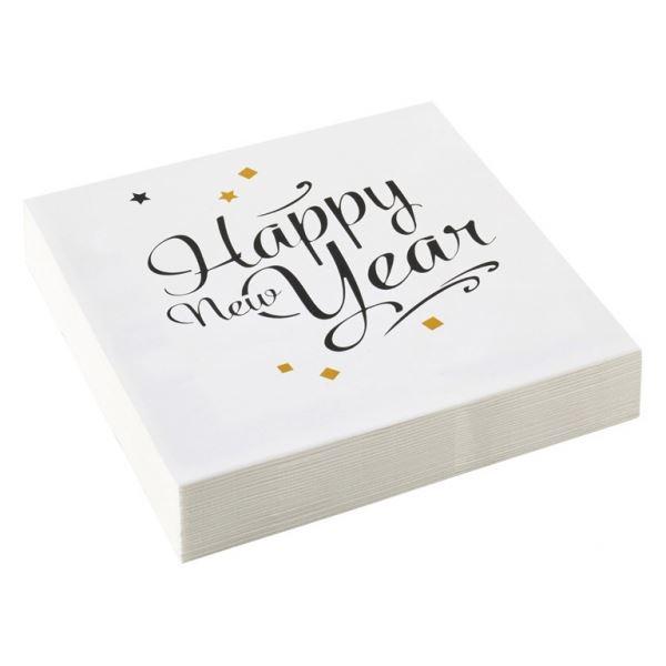 Golden Wishes - 20 Happy New Year Servietten