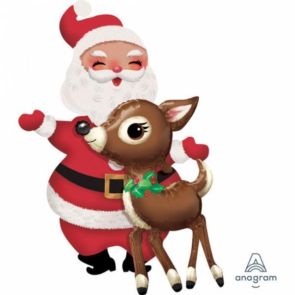 Airwalker Weihnachtsmann & Rentier 78 x 121cm