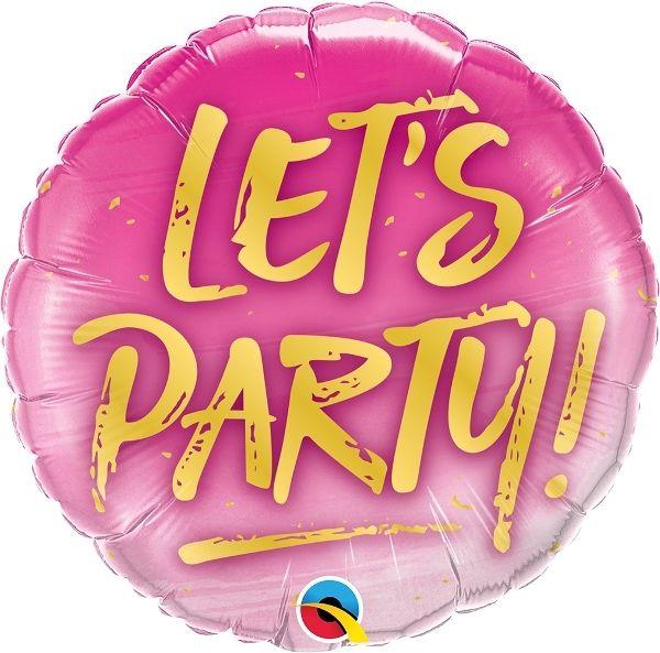 Folienballon Let's Party 45cm
