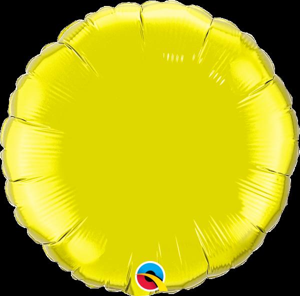 Folienballon Rund Zitronengelb 45cm