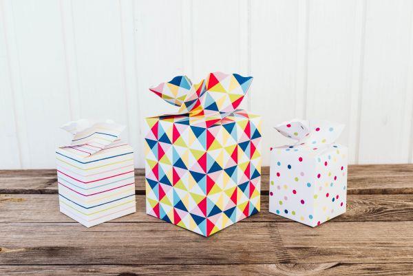 Geschenkschachtel-Set Triangel Bunt