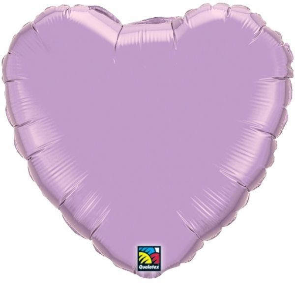 Folienballon Herz Pearl Flieder 45cm