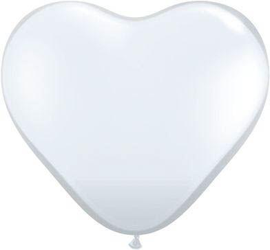 Qualatex Latexballon Herz Diamond Clear Ø 15cm