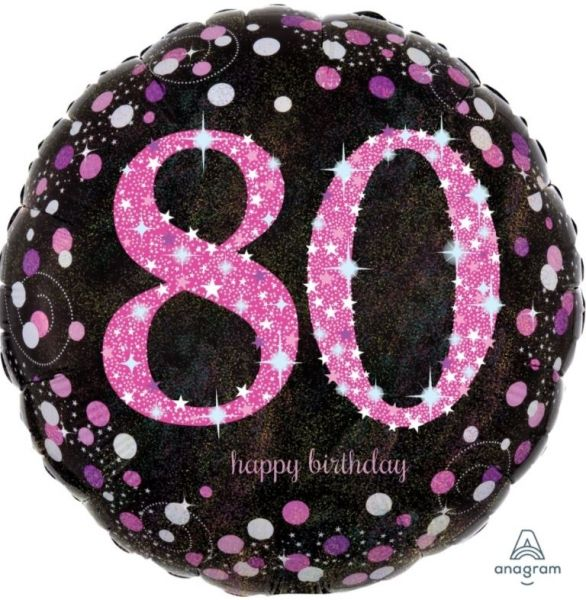 "Folienballon Pink Celebration ""80"" 43cm"