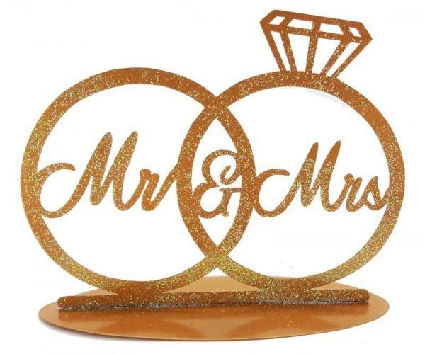 Metallständer Hochzeitsringe Gold