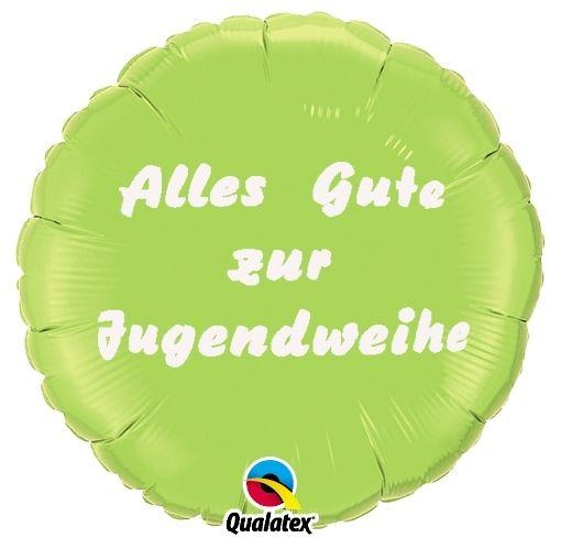 Folienballon Alles Gute zur Jugendweihe Hellgrün 45cm