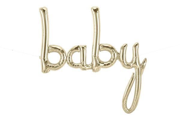 Folienballon-Girlande Script Baby Gold