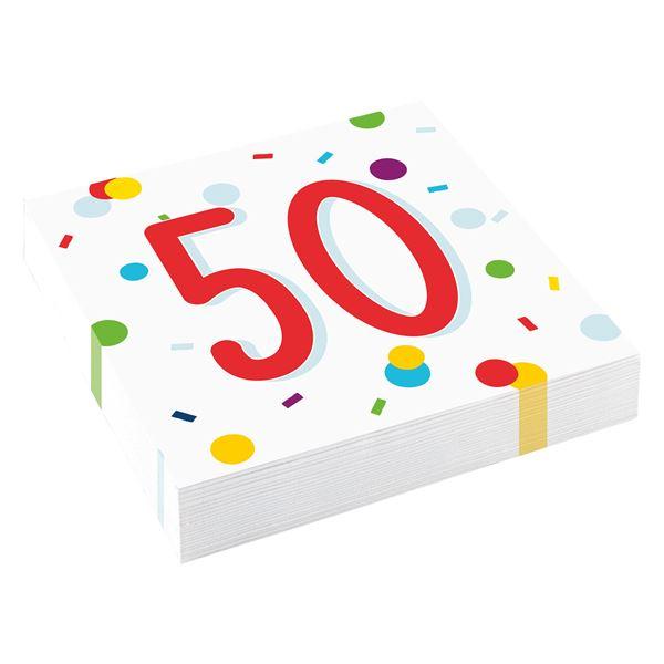 Confetti Birthday - 50. Geburtstag 20 Servietten