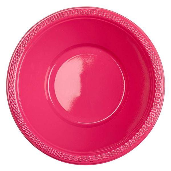Pink - 10 Plastikschüsseln