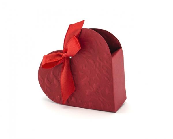 Geschenkbox Herz Rot