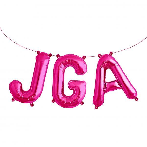 "Folienballon Girlandenset ""JGA"" Pink"