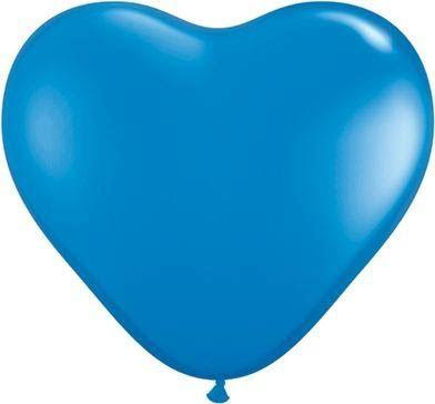 Herzballon Dunkelblau 45cm