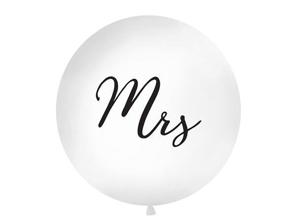 Latexballoon Gigant Mrs. White Ø 100cm