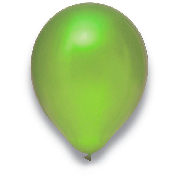 Luftballons Metallic Limonengrün 30cm 50 Stück