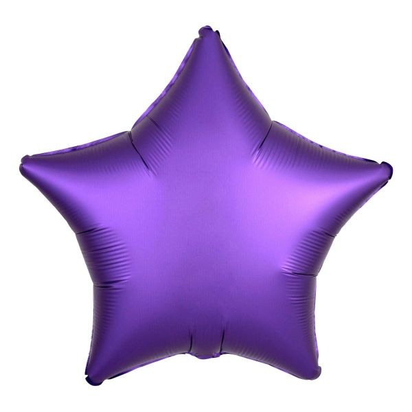Folienballon Stern Satin Royal Violett 45cm