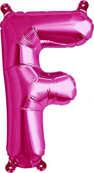 Luftballon Buchstabe F Pink 40cm