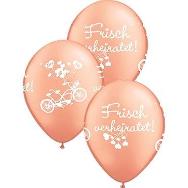 """Qualatex Latexballon """"Frisch verheiratet!"""" Roségold Ø 30cm"""