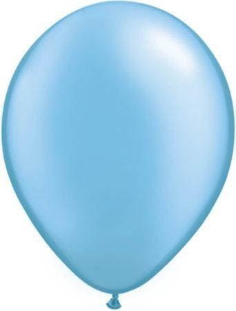 Qualatex Ballon Pearl Azurblau 30cm