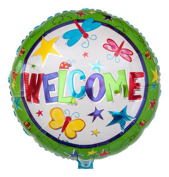 Folienballon Welcome 45cm