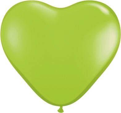 Qualatex Herzballon Limettengrün 15cm