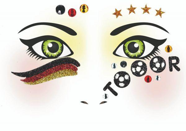 Face Art Sticker - Deutschland