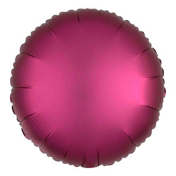 Folienballon Rund Satin Granatapfel Pink 45cm