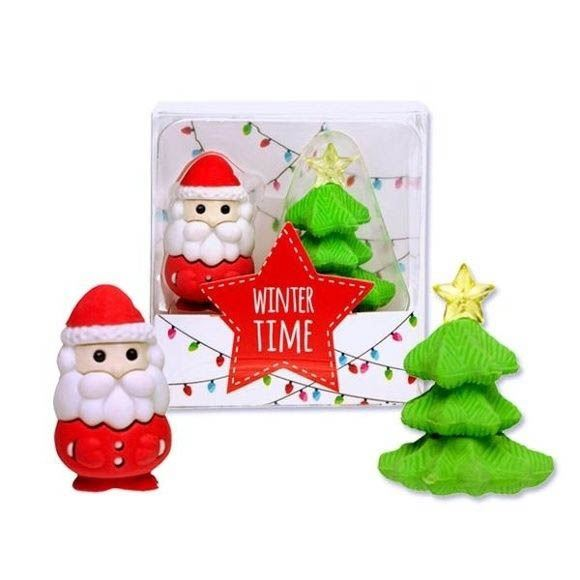 Radiergummi Weihnachtsmann & Tannenbaum