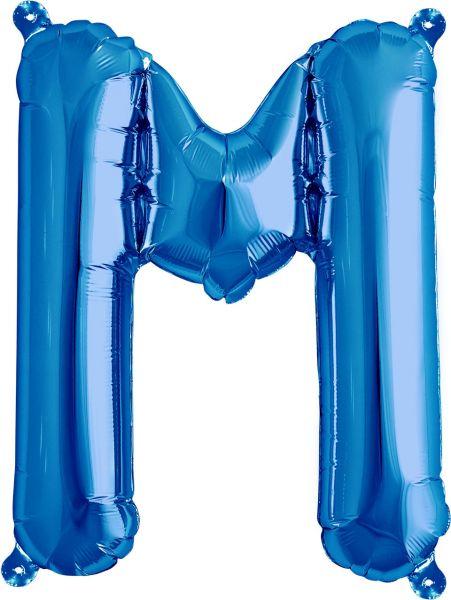 Luftballon Buchstabe M Blau 40cm