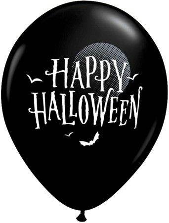 Qualatex Ballon Halloween Fledermäuse Schwarz 30cm