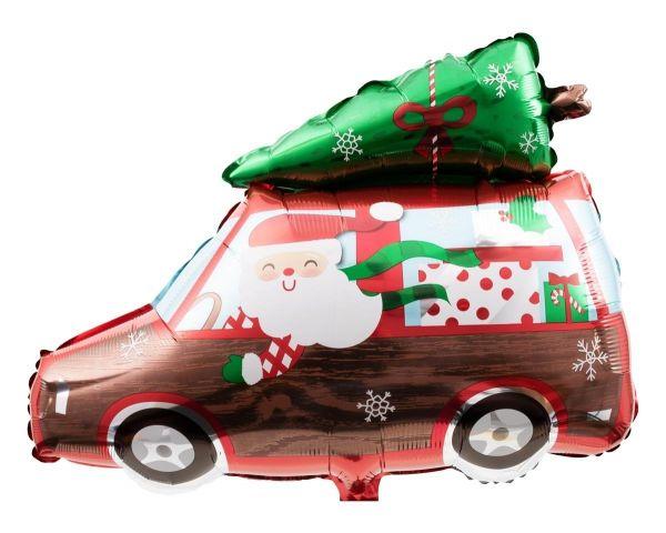Folienballon Weihnachts-Auto 50x38 cm