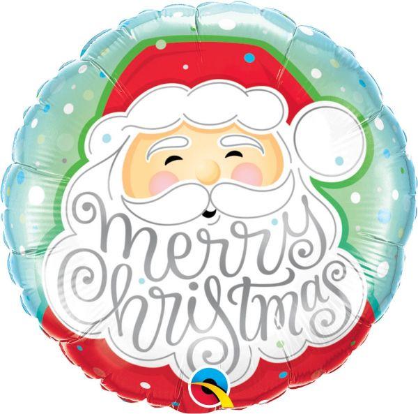 Folienballon Merry Christmas Santa 46 cm