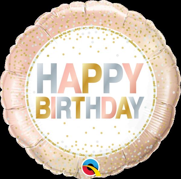 Folienballon Metallic Dots zum Geburtstag 45cm