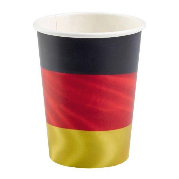 Deutschland - 8 Pappbecher