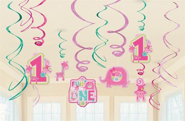 One Wild Girl - 1. Geburtstag 12 Deko-Spiralen