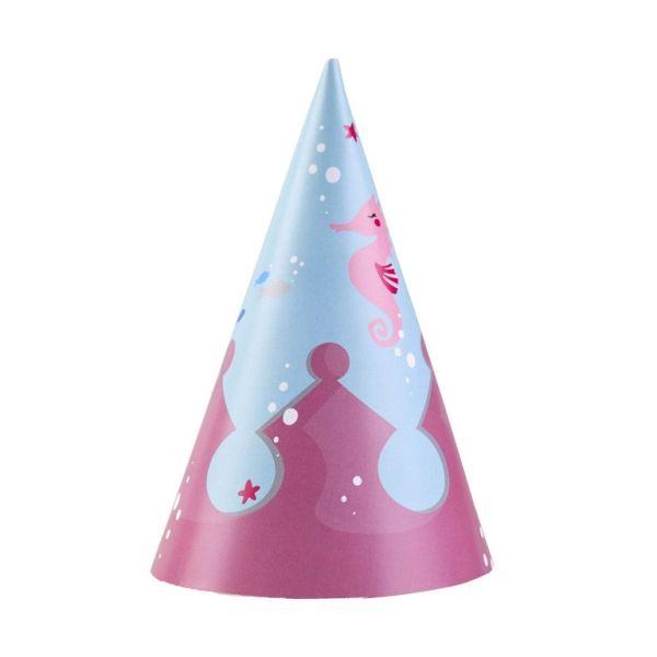 Meerjungfrau - 8 Partyhütchen
